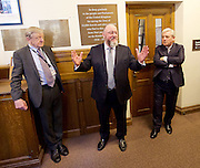 Kinderstransport plaque in Parliament, Westminster, London, Great Britain <br /> 27th January 2017 <br /> <br /> Chief Rabbi and Archbishop of Canterbury to mark Holocaust Memorial Day with Lord Dubs at rededication of Kindertransport plaque in Parliament<br />  <br /> 20 years ago the Committee of the Reunion of the Kindertransport donated a plaque to Parliament commemorating Britain&rsquo;s act of generosity to Jewish children in Nazi-occupied Europe. On Holocaust Memorial Day [27 January 2017], the plaque will be rededicated in the presence of newly arrived child refugees who were reunited with their families from Calais last year by Safe Passage, a project of Citizens UK. <br />  <br /> The ceremony will be particularly poignant as it will be attended by Lord Dubs, himself a Kindertransport survivor, who passed an amendment to the Immigration Act last year, with the Government's support, affording sanctuary in the UK to some of the most vulnerable lone child refugees in Europe.<br />  Lord Alf Dubs.<br /> Chief Rabbi, Ephraim Mirvis, <br /> Speaker of the House of Commons, John Bercow, <br /> <br /> <br /> <br /> Rededication of Kinderstransport plaque in Parliament<br /> <br /> <br /> <br /> <br /> Photograph by Elliott Franks