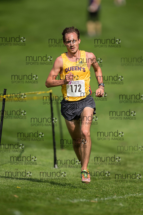 Jeff Archer of Queens runs in the men's race at the 2014 Western International Cross country meet in London Ontario, Saturday,  September 20, 2014.<br /> Mundo Sport Images/ Geoff Robins