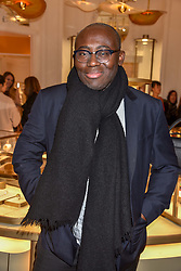 Edward Enninful at the reopening of the Cartier Boutique, New Bond Street, London, England. 31 January 2019. <br /> <br /> ***For fees please contact us prior to publication***