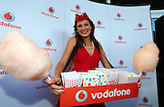 Vodafone girl in the Vodafone Red Room during 2012 Vodafone Music Awards, Vector Arena, Auckland. Thursday 1st November 2012. Photo: Simon Watts / photosport.co.nz