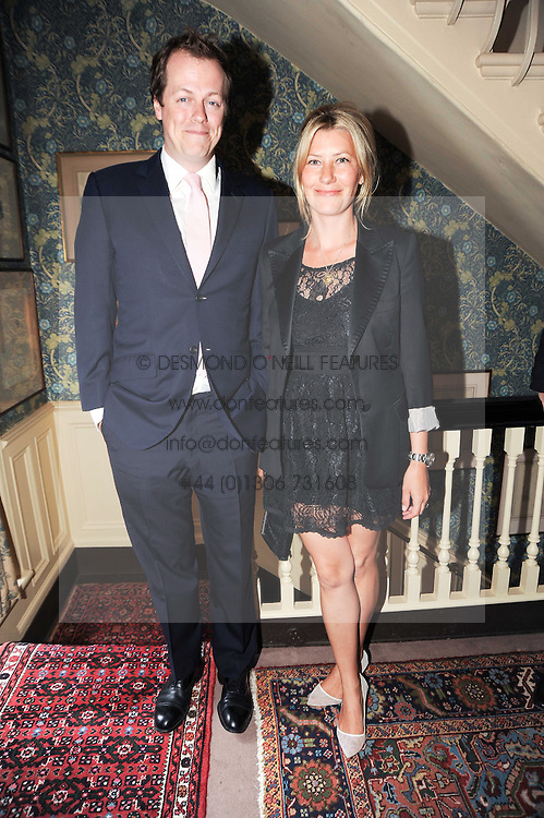 TOM & SARA PARKER BOWLES at a party to celebrate the publication of Imperial Bedrooms by Bret Easton Ellis held at Mark's Club, 46 Charles Street, London W1 on 15th July 2010.