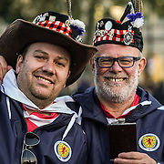 Scotland fans descend on Trafalgar Square