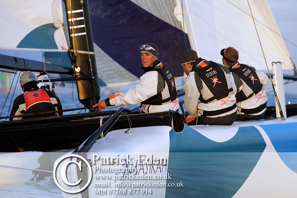 Loïck Peyron, Formular 40, Masirah, Round the island Race, 2010, Cowes, Isle of Wight, UK, Sports Photography