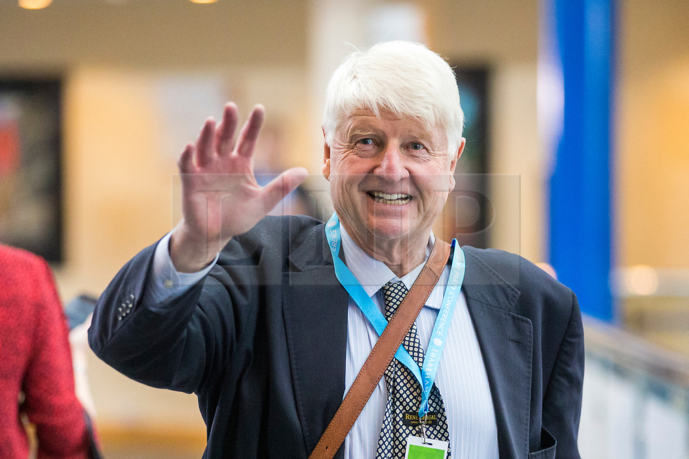 © Licensed to London News Pictures. 02/10/2018. Birmingham, UK. Stanley Johnson on route to watch his son Boris speak at the Conservative party conference today being held at the International Convention Centre in Birmingham. Photo credit: Andrew McCaren/LNP