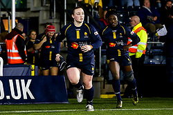 Laura Keates of Worcester Warriors Women leads the side out against Richmond Women - Mandatory by-line: Robbie Stephenson/JMP - 11/01/2020 - RUGBY - Sixways Stadium - Worcester, England - Worcester Warriors Women v Richmond Women - Tyrrells Premier 15s