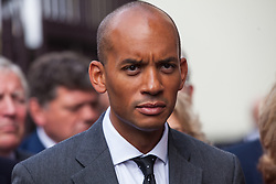 "London, UK. 25 September, 2019. Chuka Umunna, Liberal Democrat MP for Streatham, prepares to return to Parliament with his colleagues on the day after the Supreme Court ruled that the Prime Minister's decision to suspend parliament was ""unlawful, void and of no effect"". Credit: Mark Kerrison/Alamy Live News"