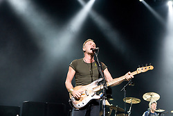 Bassist and lead vocalist Sting of The Police performed in concert at the John Paul Jones Arena in Charlottesville, VA on November 6, 2007.