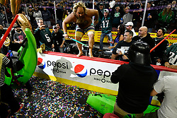 Two days ahead of Super Bowl LII, competitive eaters consume large amounts of wings during the annual Wing Bowl competition, at the Wells Fargo Center, on Friday.