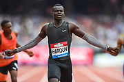 Abdalleleh Haroun of Qatar wins the Men's 400m during the Muller Anniversary Games, Day One, at the London Stadium, London, England on 21 July 2018. Picture by Martin Cole.