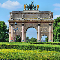 Arc de Triomphe du Carrousel at Axe Historique in Paris, France<br />