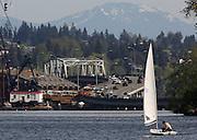 The 520 West Connection Bridge. (Ken Lambert / The Seattle Times)