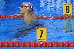 Nina Sovinek of Slovenia after women`s 200m Freestyle heats race during the day 4 of LEN European Short Course Swimming Championships Rijeka 2008, on December 14, 2008,  in Kantrida pool, Rijeka, Croatia. (Photo by Vid Ponikvar / Sportida)