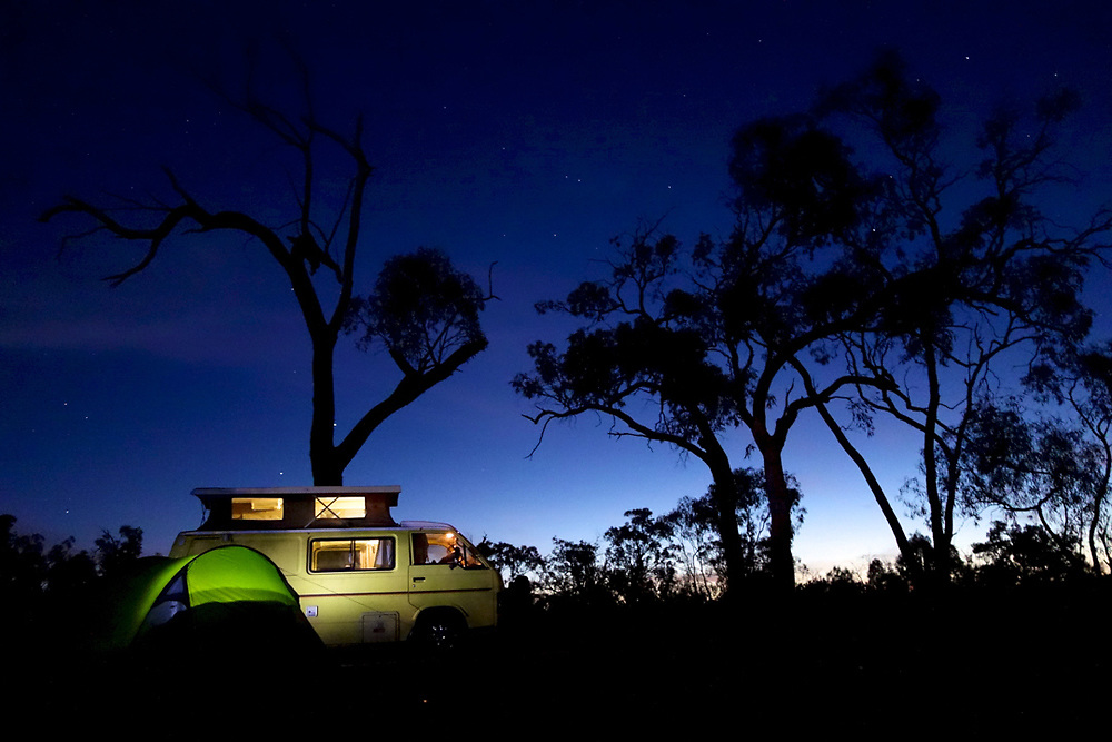 Camping on Murray River, Australia. <br />