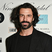 Christian Vit Arrivers at Nina Naustdal catwalk show SS19/20 collection by The London School of Beauty & Make-up at Bagatelle on 26 Feb 2019, London, UK.