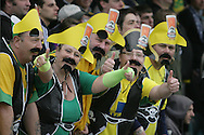 Bristol - Saturday May 1st, 2010: Norwich City fans in fancy dress during the Coca Cola League One match at The Memorial Stadium, Bristol. (Pic by Mark Chapman/Focus Images)..
