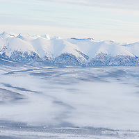 Aerial view of the Yukon from a helicopter.