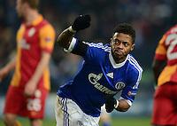FUSSBALL  CHAMPIONS LEAGUE  ACHTELFINALE  Rueckspiel  2012/2013      FC Schalke 04 - Galatasaray Istanbul                   12.03.2013 Michel Bastos (FC Schalke 04) jubelt ueber sein Tor zum 2:2
