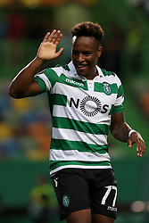September 20, 2018 - Lisbon, Portugal - Sporting's forward Jovane Cabral from Cabo Verde celebrates after scoring a goal during the UEFA Europa League Group E football match Sporting CP vs Qarabag at Alvalade stadium in Lisbon, on September 20, 2018. (Credit Image: © Pedro Fiuza/NurPhoto/ZUMA Press)