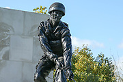 The Parachute Regiment Memorial at the National Memorial Arboretum, Croxall Road, Alrewas, Burton-On-Trent,  Staffordshire, on 29 October 2018. Picture by Mick Haynes.