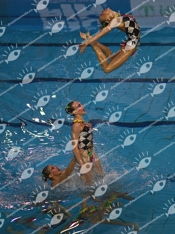 Busto Arsizio (VA) - Italy.CoMeN - Mediterranean Synchronised Swimming cup 2011.The international competition is reserved to athletes 14 years old or younger. 25 nations are taking part to the 2011 edition..Day 03 - Team Final.Gold for OPEN.RUSSIA (RUS).Photo G.Scala/Deepbluemedia.eu