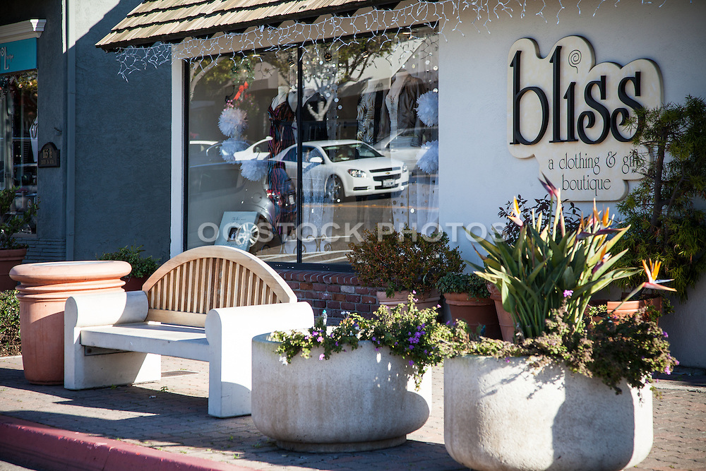 Shopping On Del Mar Street In Downtown San Clemente