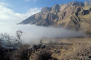 Fog coming in the Atacama desert, near Salta, Argentina
