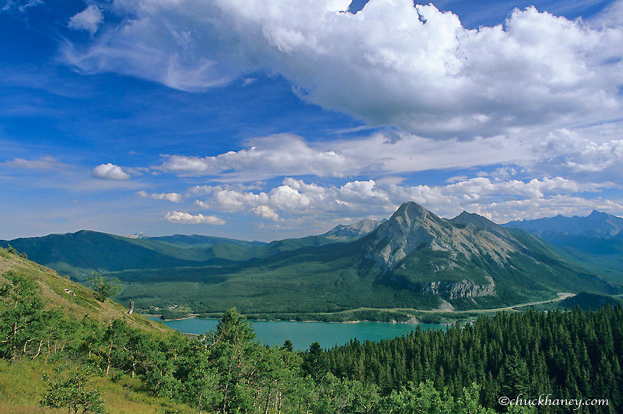 Mount Baldy and Barrier Lake in the Kananaskis Country of Alberta Canada