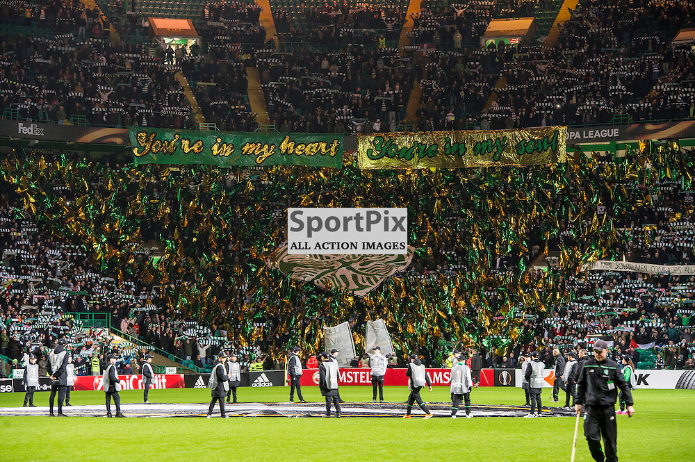 The home fans were in fine voice ahead of the game<br /> <br /> as Celtic host Ajax at Parkhead in the Europa League.<br /> &copy; Ger Harley/ SportPix.org.uk 26 November 2015
