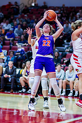 NORMAL, IL - January 05: Jossie Hudson during a college women's basketball game between the ISU Redbirds and the Purple Aces of University of Evansville January 05 2020 at Redbird Arena in Normal, IL. (Photo by Alan Look)
