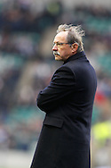 Picture by Andrew Tobin/Focus Images Ltd +44 7710 761829.10/03/2013.  Italy head coach Jaques Brunel looks on during the RBS 6 Nations match at Twickenham Stadium, Twickenham.