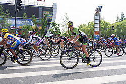 Alison Tetrick checks out what's happening behind - Tour of Chongming Island 2016 - Stage 1. A 139.8km road race on Chongming Island, China on May 6th 2016.