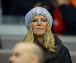 LIVERPOOL, ENGLAND - Thursday, November 26, 2015: Jürgen Kopp's wife Ulla Sandrock before the UEFA Europa League Group Stage Group B match between Liverpool and FC Girondins de Bordeaux at Anfield. (Pic by David Rawcliffe/Propaganda)
