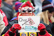 KANSAS CITY, MO - NOVEMBER 16:  Fans of the Kansas City Chiefs in the cold before a game against the Seattle Seahawks at Arrowhead Stadium on November 16, 2014 in Kansas City, Missouri.  The Chiefs defeated the Seahawks 24-20.  (Photo by Wesley Hitt/Getty Images) *** Local Caption ***