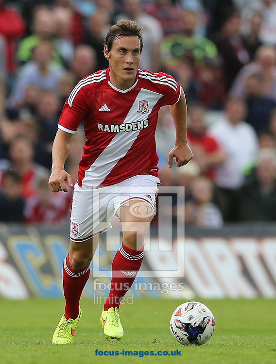Dean Whitehead of Middlesbrough during the pre season friendly match at Victoria Park, Hartlepool<br /> Picture by Simon Moore/Focus Images Ltd 07807 671782<br /> 30/07/2014
