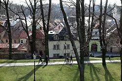 CZECH REPUBLIC LITOMYSL APR16 - View of Litomysl city centre and park from the castle's terrace.<br /> <br /> jre/Photo by Jiri Rezac<br /> <br /> <br /> <br /> &copy; Jiri Rezac 2016