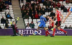 Ivan Toney of Peterborough United scores his sides equalising goal past Jon McLaughlin of Sunderland - Mandatory by-line: Joe Dent/JMP - 02/10/2018 - FOOTBALL - Stadium of Light - Sunderland, England - Sunderland v Peterborough United - Sky Bet League One