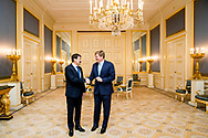 DEN HAAG - Koning Willem-Alexander ontvangt Janos Ader, de president van de republiek Hongarije op Paleis Noordeinde. ANP ROYAL IMAGES PATRICK VAN KATWIJK