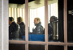 © Licensed to London News Pictures. 28/03/2019. London, UK. Armed police search inside the building of the mosque, at the scene near Cunningham Place in London NW8 after a man was stabbed to death. Armed police have been seen in the vicinity of nearby Regents Park Mosque as they look for suspects. Photo credit: Ben Cawthra/LNP