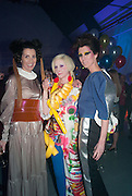 STEFANIA PRAMMA; JULIE VERHOEVEN; VALERIA NAPOLEONE, Pop party. the birthday celebration of twin sisters Valeria Napoleone and Stefania Pramma. Studio Voltaire, London SW4. 17 May 2013.