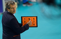 20150613 NED: World League Nederland - Finland, Almere<br /> Coach Gido Vermeulen