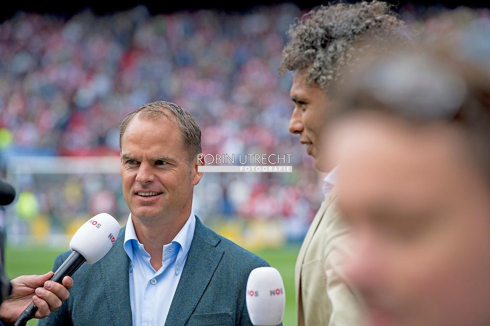 ROTTERDAM - Coach FRank de Boer wedstrijd Feyenoord ajax in de Kuip , Feyenoord verloor de wedstrijd met 0-1  in actie  COPYRIGHT ROBIN UTRECHT