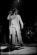 James Brown performing in Hammermith, London, UK, 1980s.