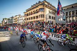 Grega Bole and Jan Polanc of Slovenia during the Men's Elite Road Race a 258.5km race from Kufstein to Innsbruck 582m at the 91st UCI Road World Championships 2018 / RR / RWC / on September 30, 2018 in Innsbruck, Austria. Photo by Vid Ponikvar / Sportida