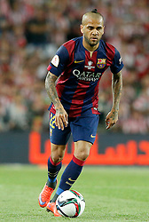 30.05.2015, Camp Nou, Barcelona, ESP, Copa del Rey, Athletic Club Bilbao vs FC Barcelona, Finale, im Bild FC Barcelona's Daniel Alves // during the final match of spanish king's cup between Athletic Club Bilbao and Barcelona FC at Camp Nou in Barcelona, Spain on 2015/05/30. EXPA Pictures &copy; 2015, PhotoCredit: EXPA/ Alterphotos/ Acero<br /> <br /> *****ATTENTION - OUT of ESP, SUI*****