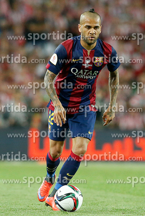 30.05.2015, Camp Nou, Barcelona, ESP, Copa del Rey, Athletic Club Bilbao vs FC Barcelona, Finale, im Bild FC Barcelona's Daniel Alves // during the final match of spanish king's cup between Athletic Club Bilbao and Barcelona FC at Camp Nou in Barcelona, Spain on 2015/05/30. EXPA Pictures © 2015, PhotoCredit: EXPA/ Alterphotos/ Acero<br /> <br /> *****ATTENTION - OUT of ESP, SUI*****