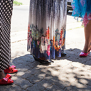 Details of the flamboyant dresses and shoes worn by women of the Congolese community for a wedding in Yeoville.