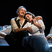Edinburgh International Festival (EIF). Don Giovanni (Opera) by Wolfgang Amadeus Mozart. Conducted by Iv&agrave;n Fischer. Matteo Peirone as Masetto and Sylvia Schwartz as Zerlina. Festival Theatre, Edinburgh.  08 Aug 2017. Edinburgh. Credit: Photo by Tina Norris. Copyright photograph by Tina Norris. Not to be archived and reproduced without prior permission and payment. Contact Tina on 07775 593 830 info@tinanorris.co.uk  <br /> www.tinanorris.co.uk