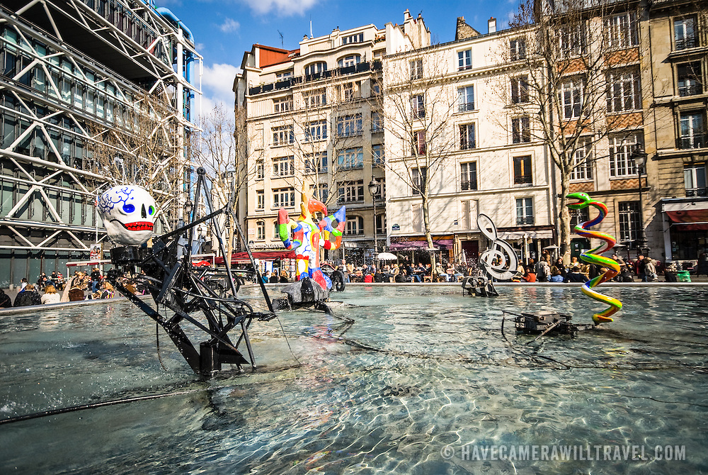 Stravinsky Fountain, Centre Pompidou<br /> Paris