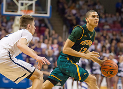 Huntington forward Anthony Meadows (12) looks to shoot against Parkersburg South during the Class AAA championship game at the Charleston Civic Center.