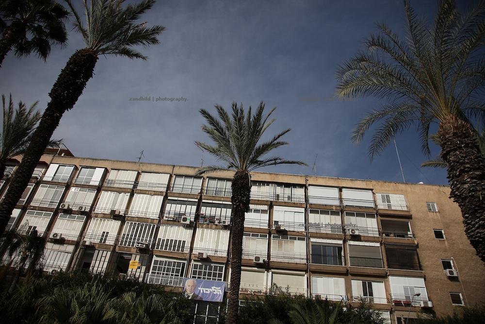 A Billboard flags israeli MP Benjamin Netanjahu in Tel Aviv.